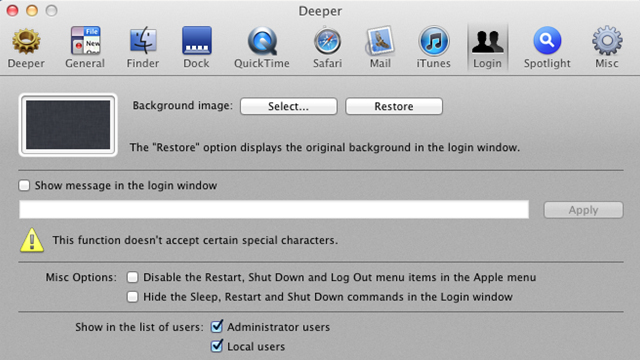 Deeper – A Lion Tweaking Tool with Dozens of Customization Options